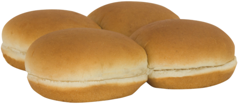 Country White Sandwich Buns Top of Buns Image