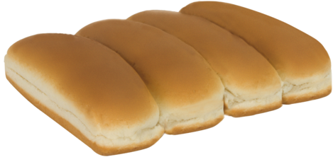 White Hot Dog Buns Top of Buns