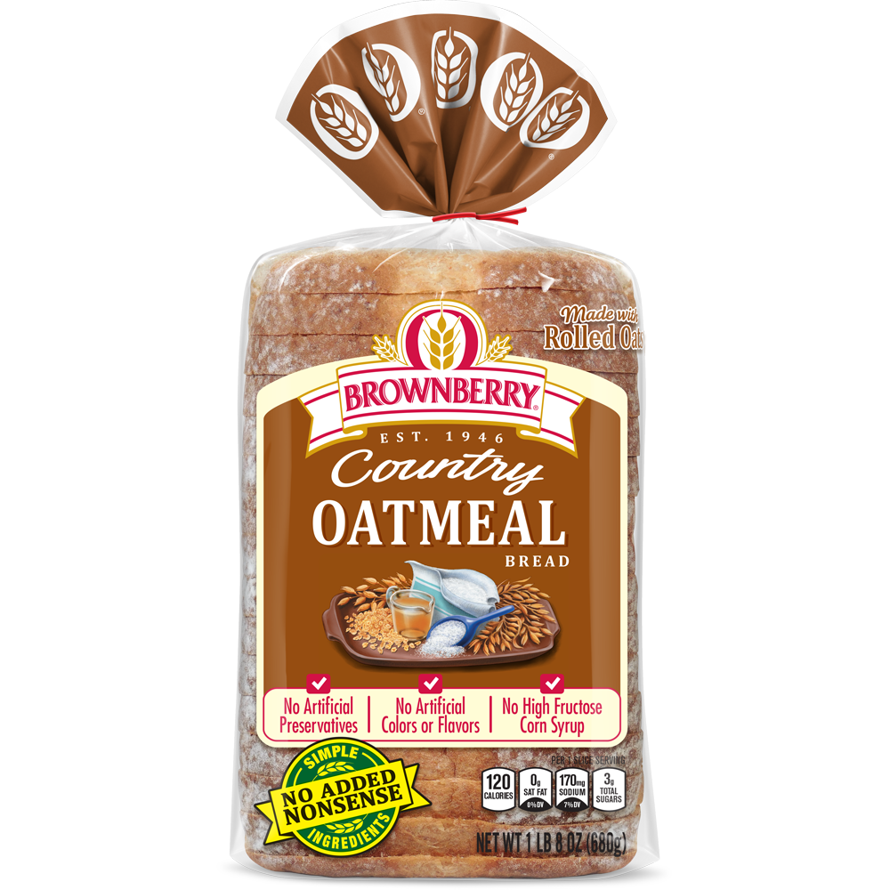 Brownberry Oatmeal Bread Package Image