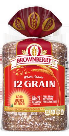 Brownberry 12 Grain Bread 24oz Packaging