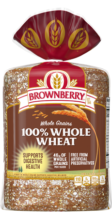 Brownberry 100% Whole Wheat Bread 24oz Packaging