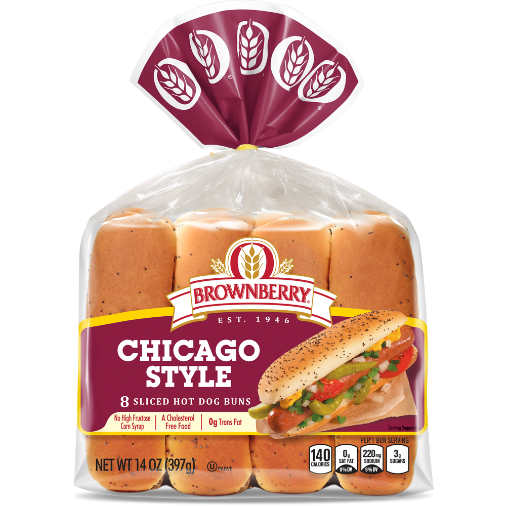 Brownberry Chicago Style Hot Dog Buns Package Image