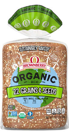 Brownberry Organic 22 Grains & Seeds Bread Package