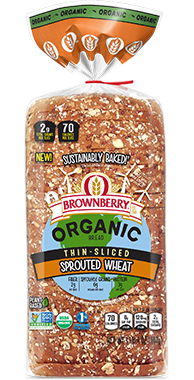 Brownberry Thin Sliced Sprouted Wheat 18oz Bread