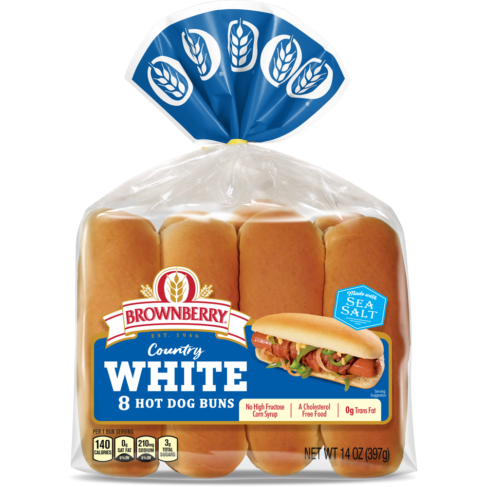 Brownberry White Hot Dog Buns Package Image