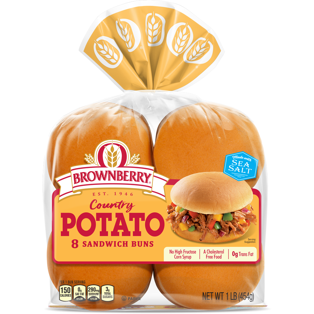 Brownberry Potato Sandwich Buns Package Image