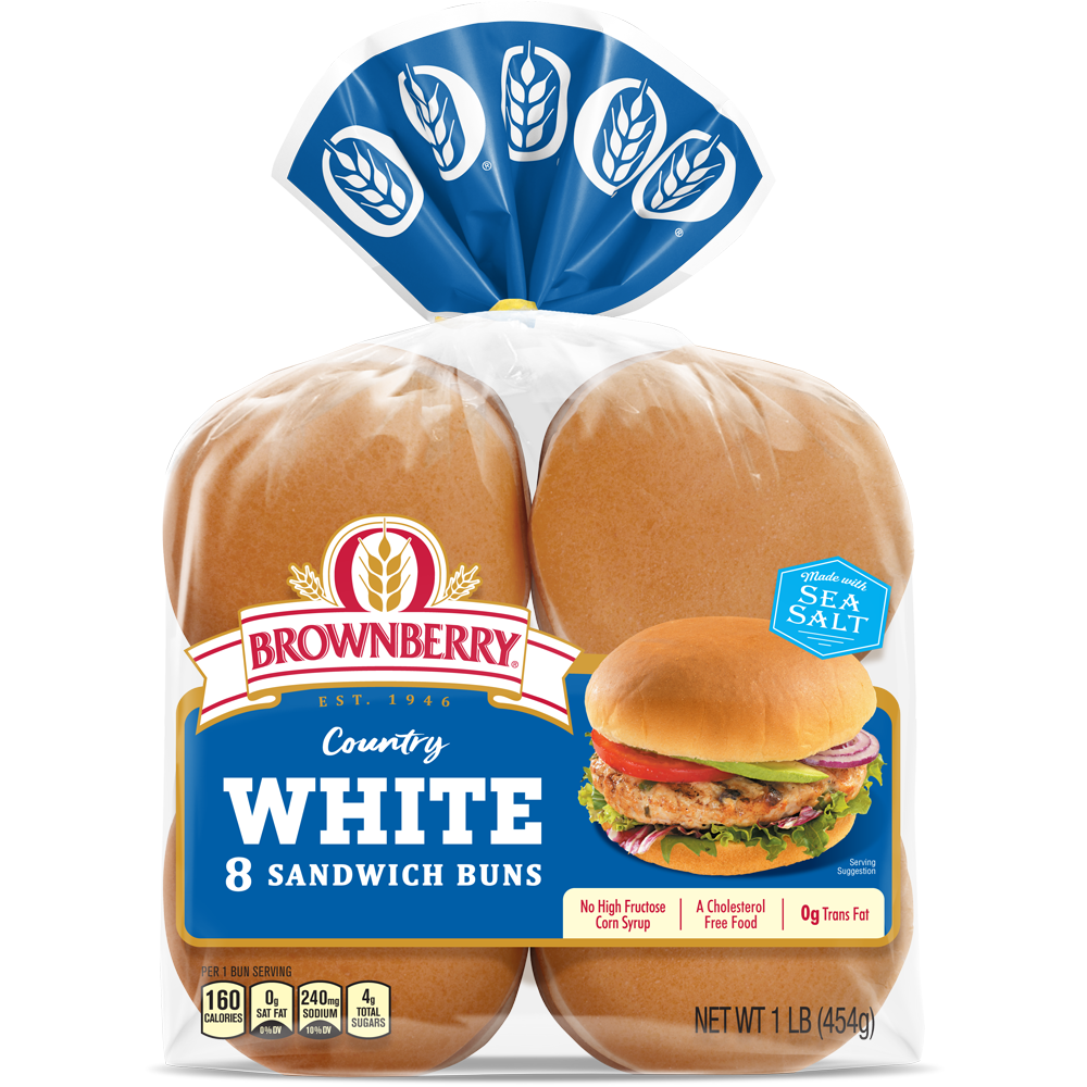 Brownberry Country White Sandwich Buns Package Image