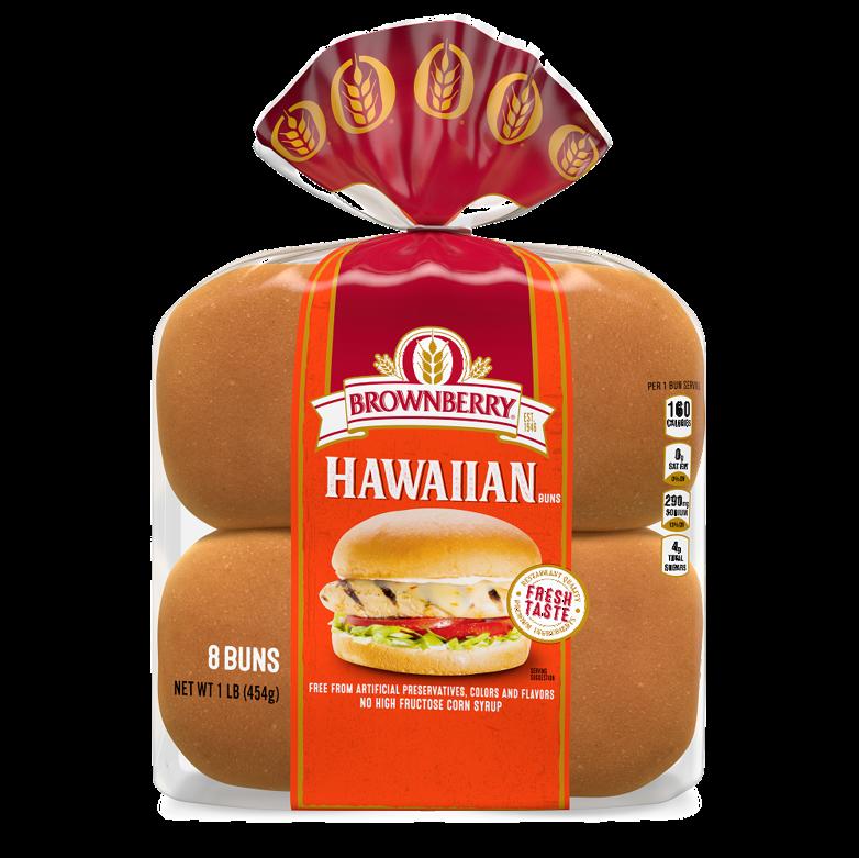 Brownberry Hawaiian Sandwich Buns Package