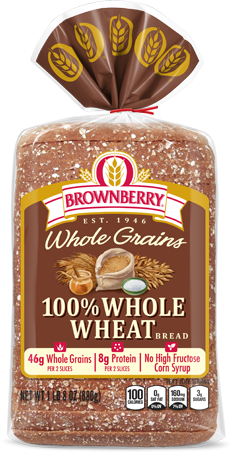 Brownberry 100% Whole Wheat Bread Package Image
