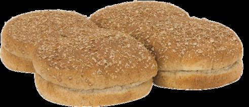 100% Whole Wheat Sandwich Buns Top of Buns Image