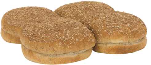 100% Whole Wheat Sandwich Buns Top of Buns Image