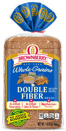 Brownberry Double Fiber Bread Package Image