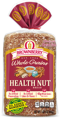 Brownberry Health Nut Bread Package Image