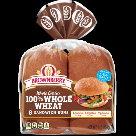 100% Whole Wheat Buns