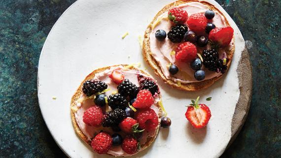 Strawberry Cheesecake Dessert Pizza Recipe Image