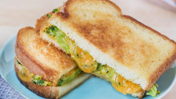 Broccoli Cheddar Grilled Cheese Recipe Image