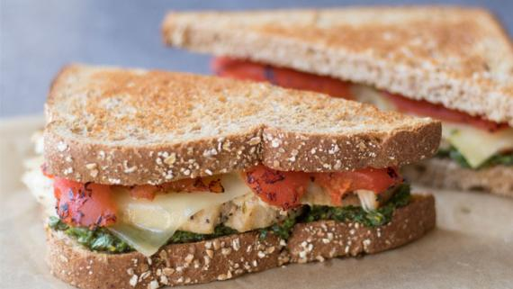 Grilled Chicken Pesto Sandwich Recipe Image