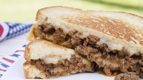Spicy Sloppy Joe Grilled Cheese Recipe Image