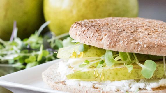 Pear & Goat Cheese Sandwich - Recipe Image