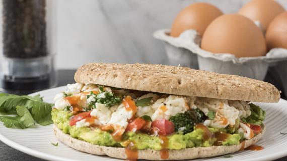 Spicy Scrambler Breakfast Sandwich Recipe Image