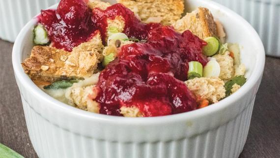Leftover Thanksgiving Mini Casseroles Recipe Image
