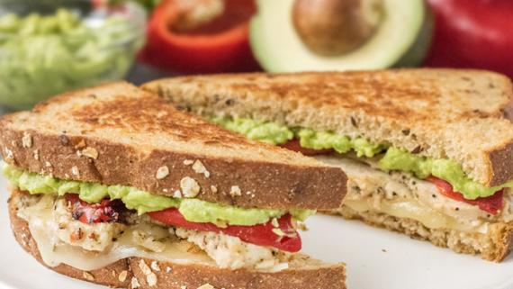 Chicken Avocado Grilled Cheese Recipe Image