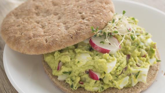 Avocado Egg Salad Sandwich Recipe Image