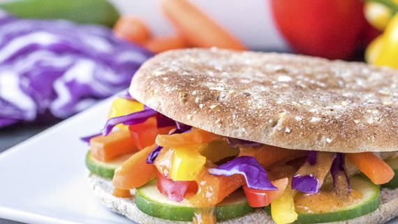 Thai Rainbow Roll Recipe Image