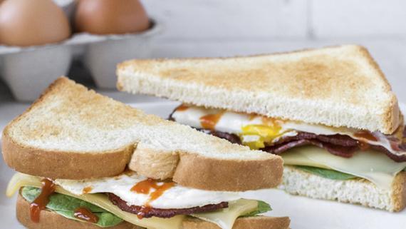 Turkey Bacon Breakfast Sandwich Recipe Image