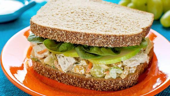 Fast 'N' Fresh Curried Chicken Salad Sandwich Recipe Image
