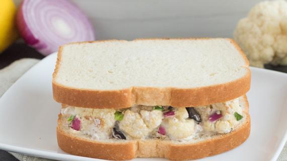 Mediterranean Cauliflower Salad Sandwiches Recipe Image