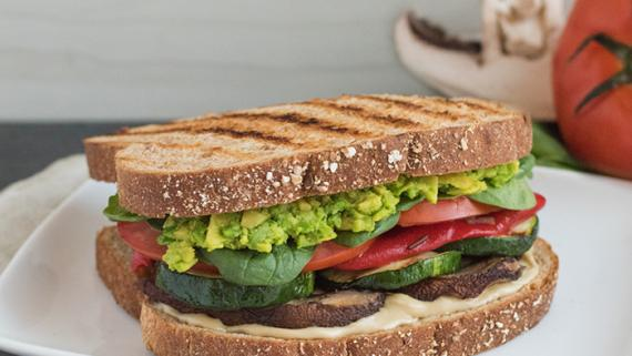 Savory Grilled Vegan Delight Sandwich Recipe Image