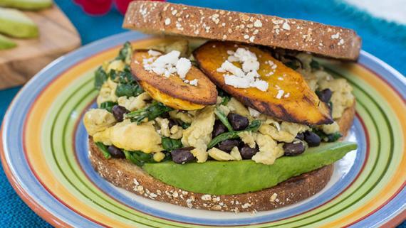 Escape to Costa Rica Breakfast Sandwich Recipe Image