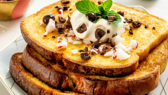 Peppermint French Toast Latte Recipe Image