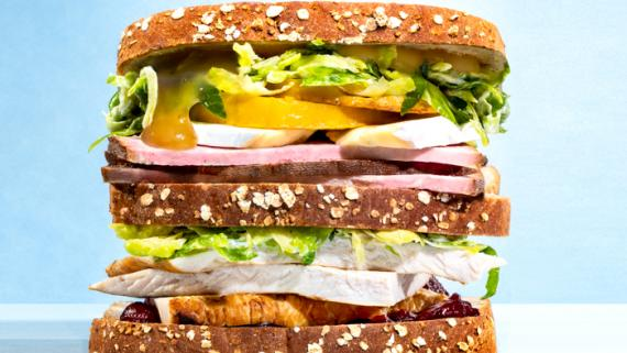 Thanksgiving Leftover Triple Decker Recipe Image