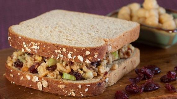 Chickpea Waldorf Salad Sandwich Recipe Image
