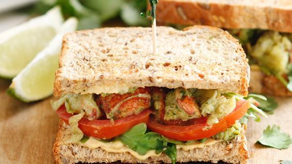Lobster Roll with Arugula and Cilantro Lime Aioli recipe image